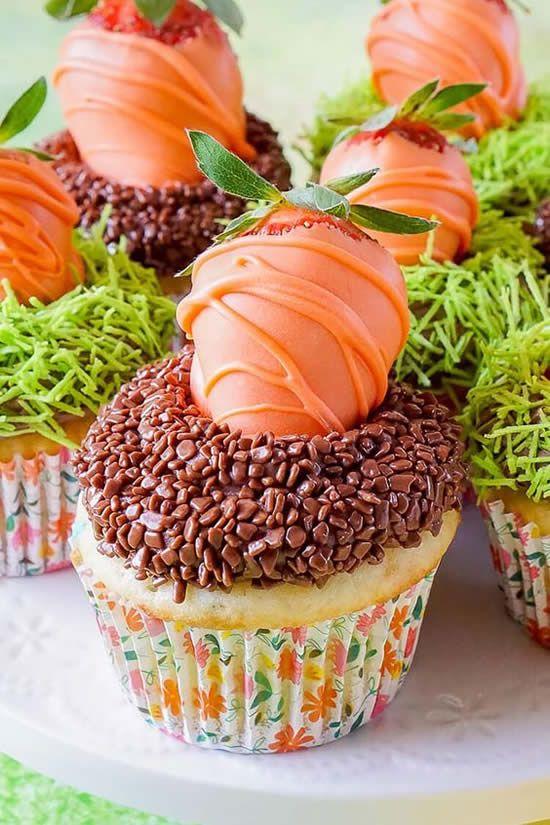 docesparapascoacupcakepascoa - Além do ovo de chocolate: dicas de doces para páscoa para surpreender e encantar