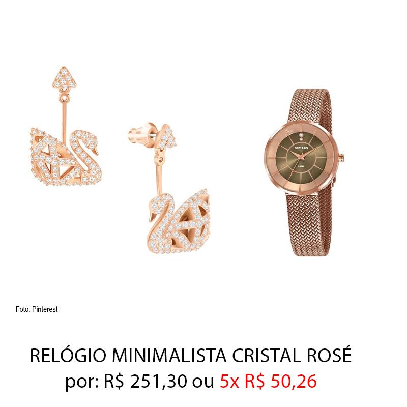 relogio rose - Dia dos Namorados: presentes por até 259,00