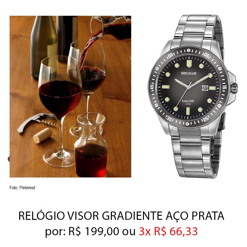 vinho relogio - Dia dos Namorados: presentes por até 259,00