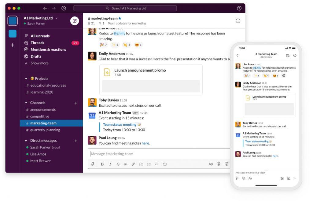 slack 1 1024x659 - 7 apps para home office para aumentar sua produtividade
