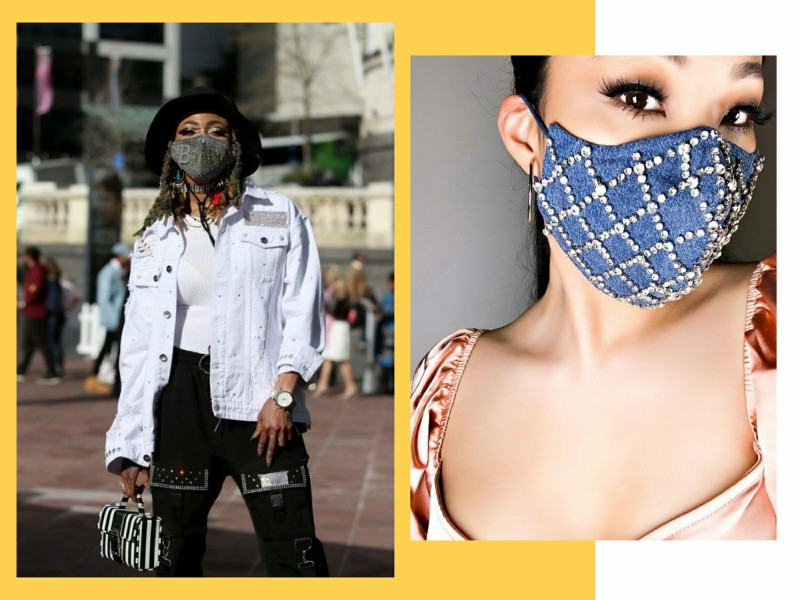 mascaradetecido2 - Quarentena: como as máscaras se inseriram na moda feminina?